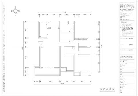 重庆天盈首原114平米美式风格户型图