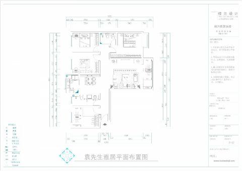 郑州商都嘉园186平米新中式风格户型图