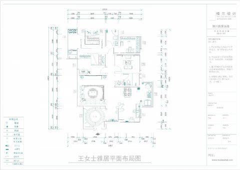 郑州天骄华庭148平米新古典风格户型图