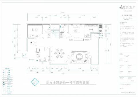 郑州正商红河谷520平米新中式风格户型图