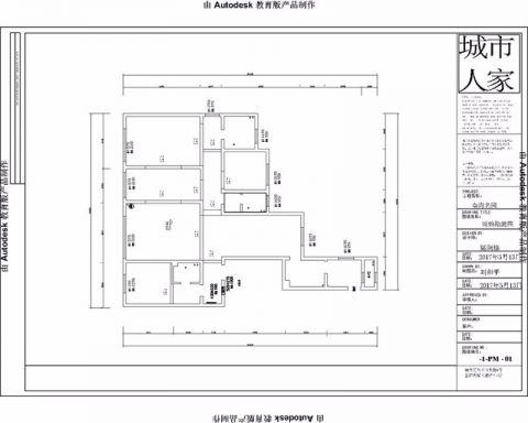 烟台金海名园204平米中式风格户型图