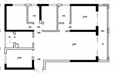 昆明昆明湖134平米新中式风格户型图