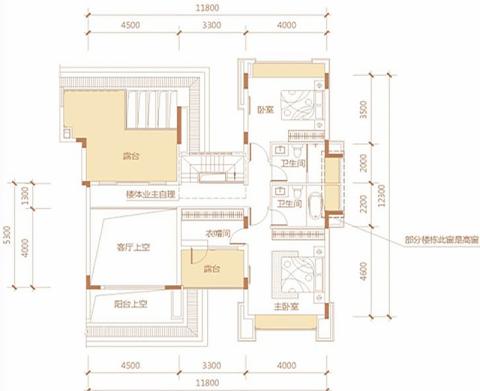 贵阳碧海花园256平米欧式风格户型图