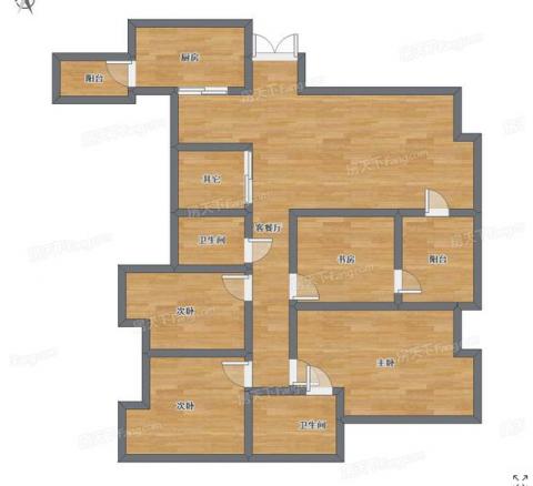 重庆渝高·香洲142平米欧式风格户型图