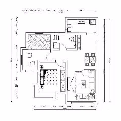 烟台朗郡89平米现代简约风格户型图