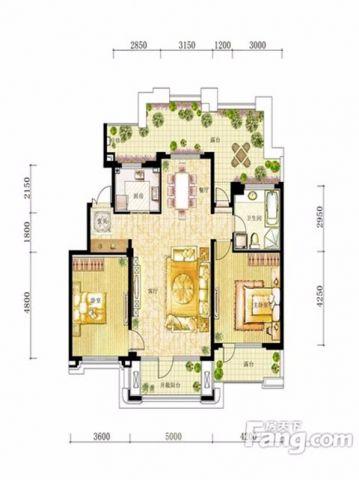 沈阳华润幸福里小区118平米现代简约风格户型图