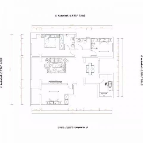 烟台万光中央公园157平米古典风格户型图
