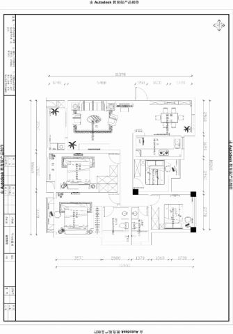 扬州金地酩悦120平米美式风格户型图