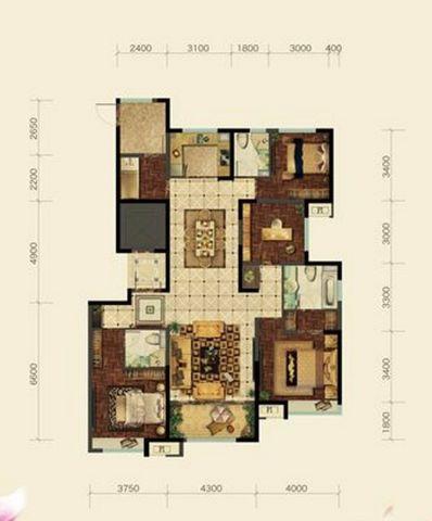 太原帝国魔码5米4180平米现代简约风格户型图