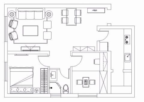太原华润·中海·幸福里90平米现代简约风格户型图