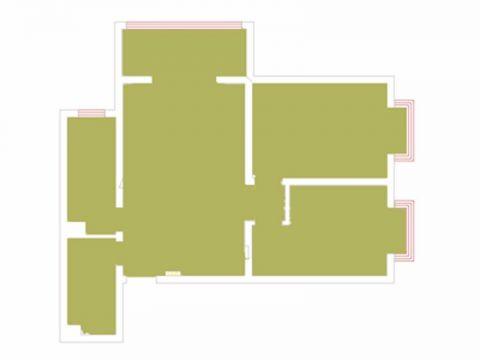 太原来福花园90平米北欧风格户型图