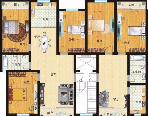 南宁区农机所宿舍110平米欧式风格户型图