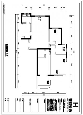常州凯悦中心110平米简约风格户型图