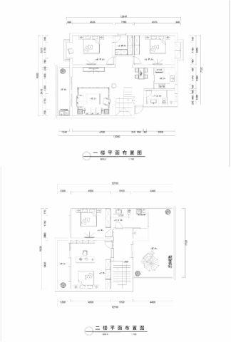 扬州秋南新寓240平米新中式风格户型图