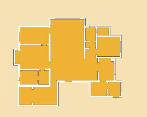 太原优山美郡200平米简约风格户型图