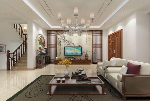 天津星湖苑200平米新中式风格户型图