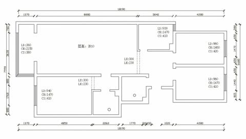 长治惠丰新城150平米简欧风格户型图