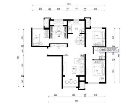 3室1卫1厅