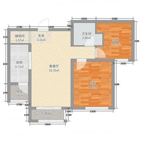 2室1卫1厅