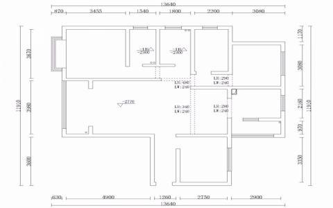 昆明园城130平米现代风格户型图