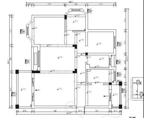 南京旭日华庭111平米北欧风格户型图