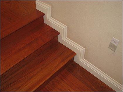 楼梯踢脚线:精当安装造就居室风景