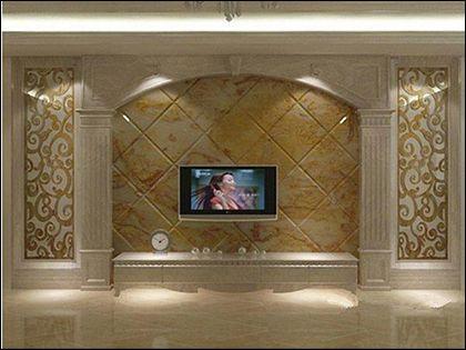 石材背景墙:打造奢华典雅的家居殿堂