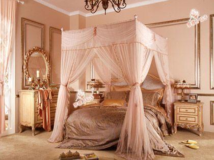 欧式床幔款式分享,细数每个女孩的心头好