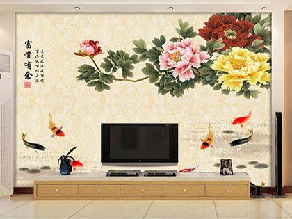 瓷砖画背景墙,美丽与实用兼具,完美!