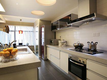 半开放式厨房 追求美观时尚的选择