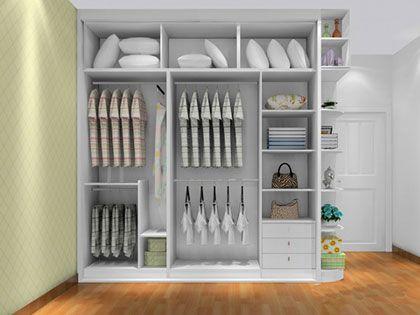 """卧室衣柜设计:结构黄金分区,富""""柜""""立于家"""