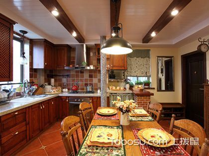 美式风格厨房装修 感受不一样的氛围