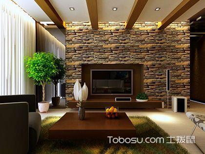 东南亚风格背景墙,电视机身后的自然美景