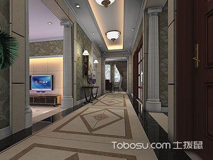 走廊设计三大重点,地面、墙面和吊顶