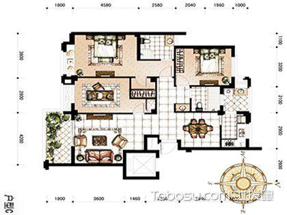 三室两厅两卫现代装修预算 ps你的生活空间