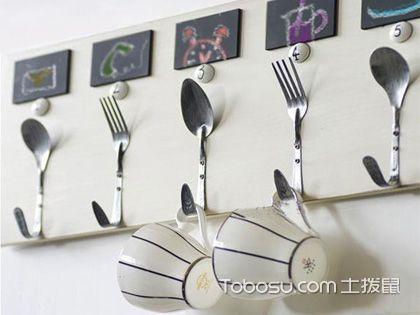 厨房挂钩搭配多,小物品也有多种风格