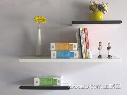 墙上书架款式,收纳装饰两不误