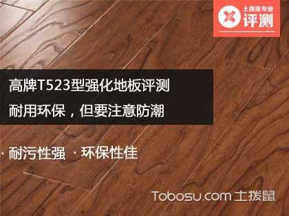 高牌T523型强化地板评测:耐用环保,但要注意防潮