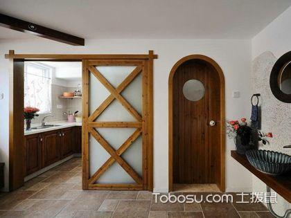 单扇推拉门 给厨房一个独立空间