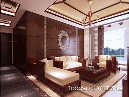 中式沙发背景墙设计 提升家居艺术品位