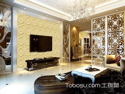 砂岩电视背景墙 一种多功能的装饰石材