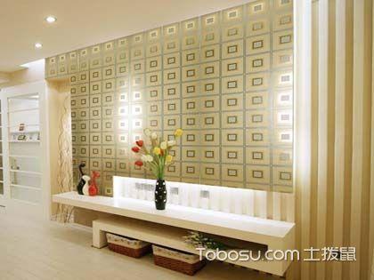 金属壁纸铺贴有度 不适合整墙装饰