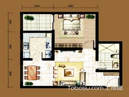 一居室户型图 你更钟意哪一款?