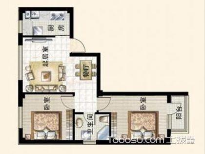 7万6装64平单身公寓,朴素温馨兼具