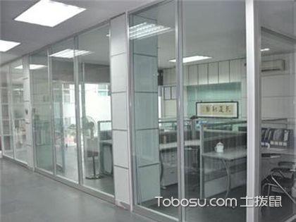 有框落地玻璃隔墙施工 框架要固定好