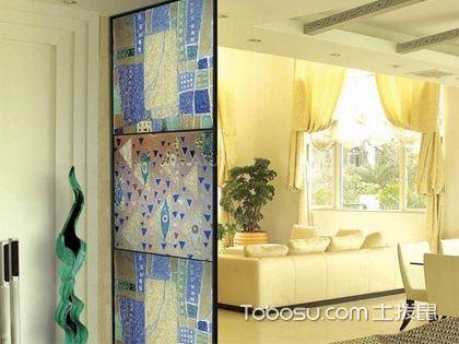 玄关艺术玻璃 变化多样提高生活品质