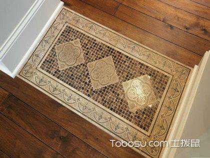 石材铺贴与木地板无缝安装,效果更美观