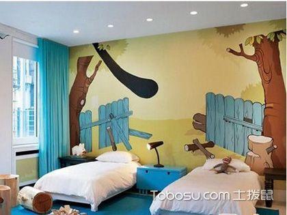 欣赏儿童房装修墙纸,教育孩子也可以很简单