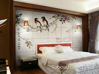 """卧室瓷砖背景墙效果图,百变风情的""""格""""子"""