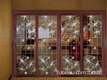 赏艺术玻璃移门图片,学玻璃门清洁保养妙招